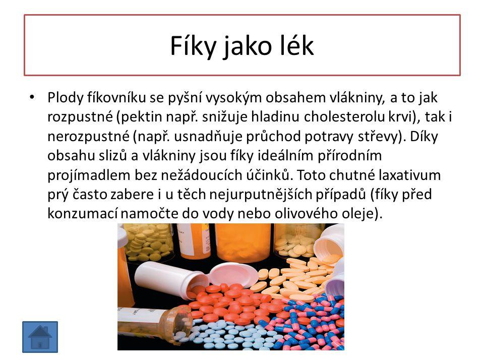 Fíky jako lék