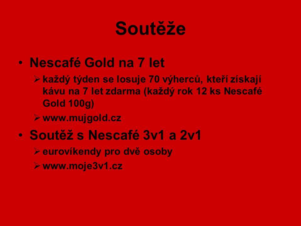 Soutěže Nescafé Gold na 7 let Soutěž s Nescafé 3v1 a 2v1