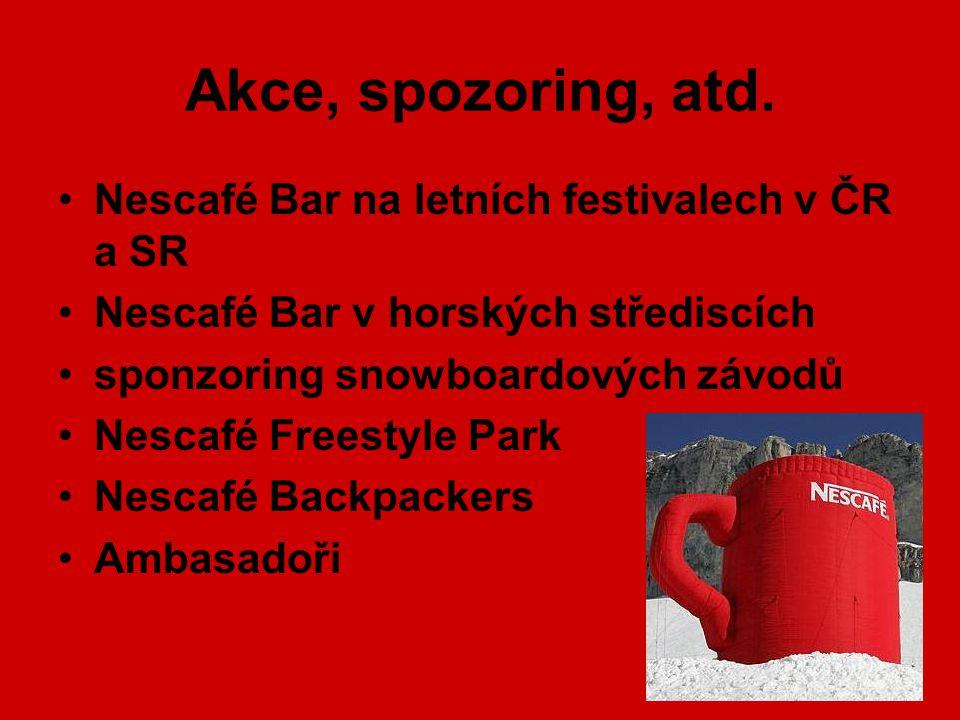 Akce, spozoring, atd. Nescafé Bar na letních festivalech v ČR a SR