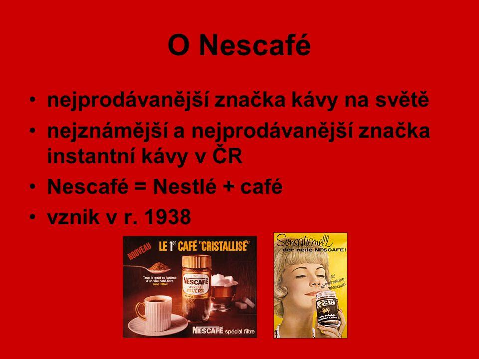 O Nescafé nejprodávanější značka kávy na světě