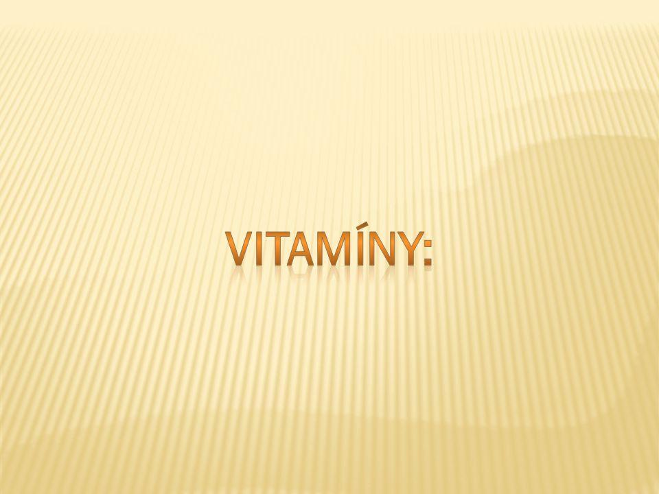 Vitamíny: