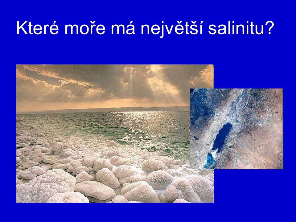 Které moře má největší salinitu