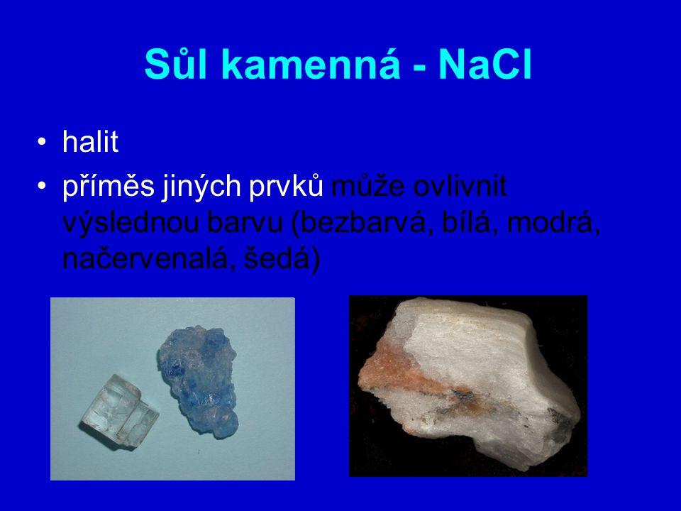 Sůl kamenná - NaCl halit