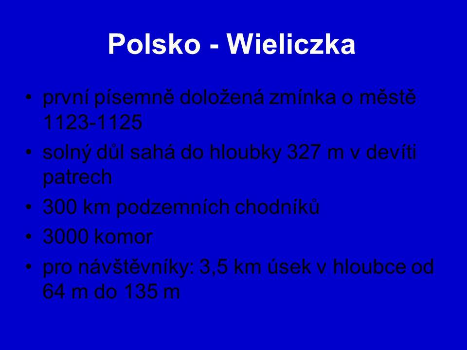 Polsko - Wieliczka první písemně doložená zmínka o městě 1123-1125