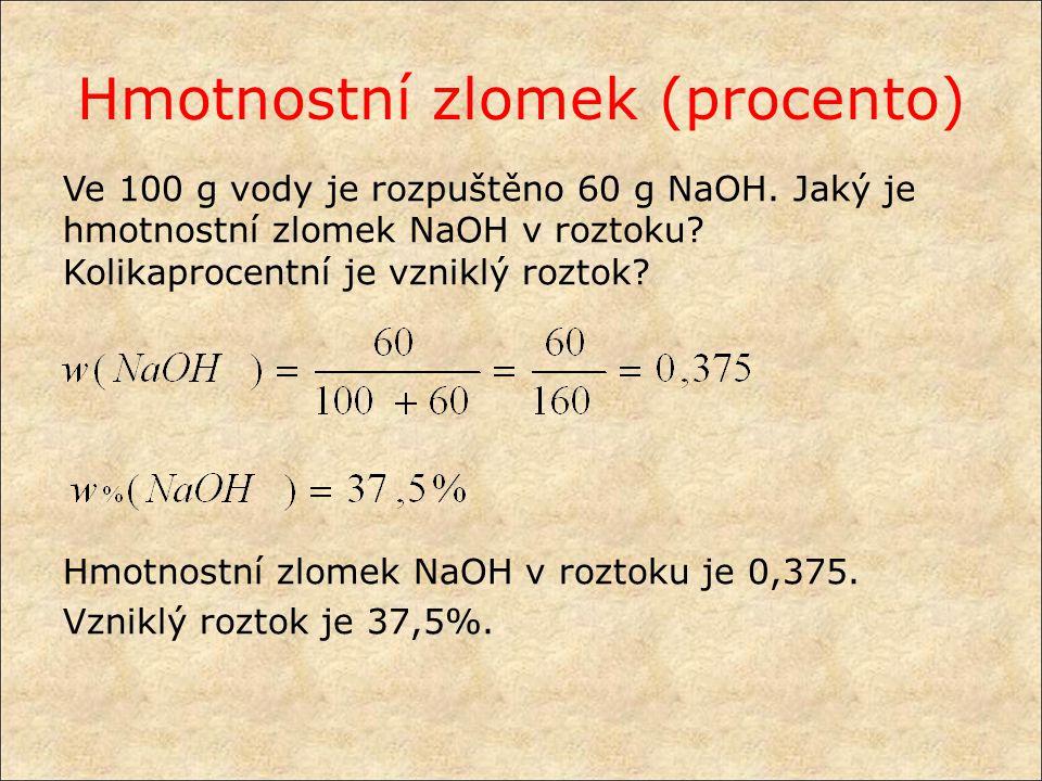 Hmotnostní zlomek (procento)