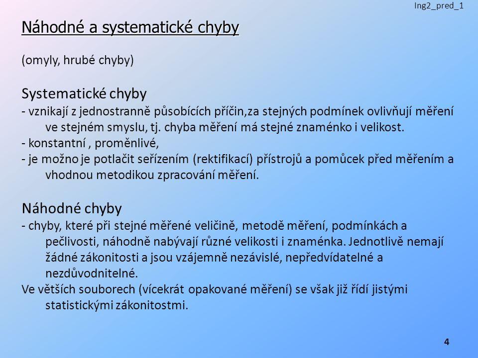 Náhodné a systematické chyby