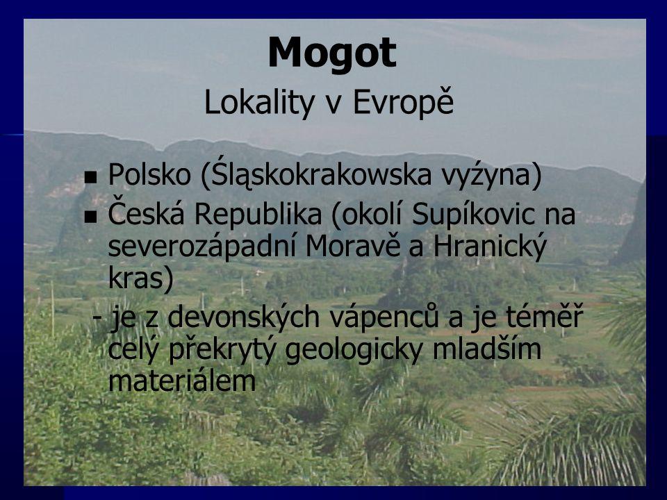Mogot Lokality v Evropě Polsko (Śląskokrakowska vyźyna)