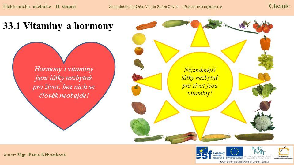 Nejznámější látky nezbytné pro život jsou vitaminy!