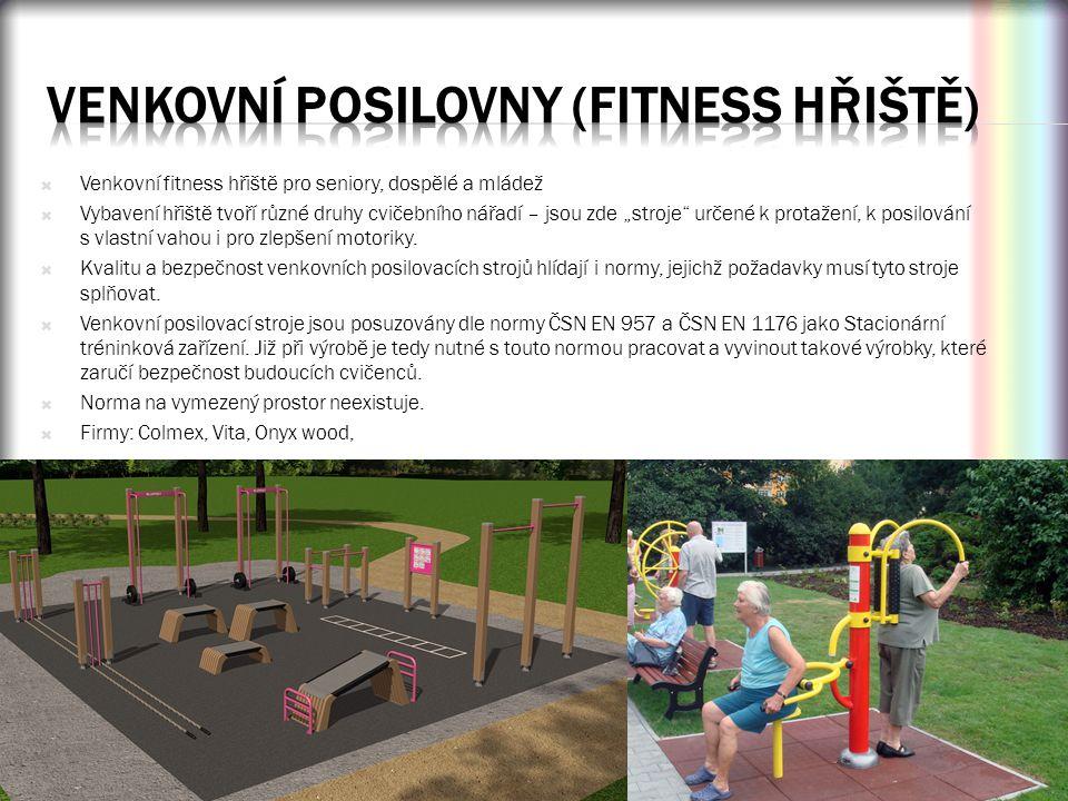 Venkovní posilovny (fitness hřiště)