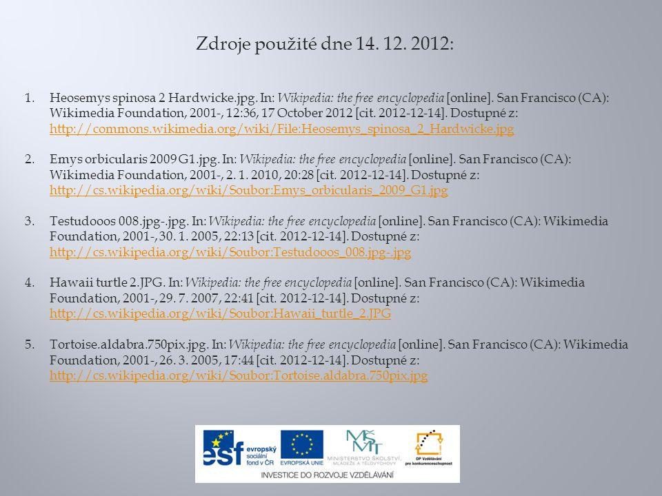 Zdroje použité dne 14. 12. 2012:
