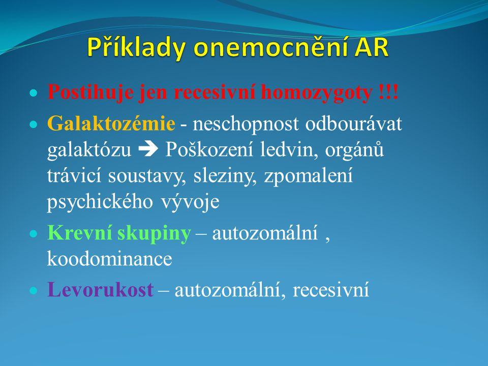 Příklady onemocnění AR