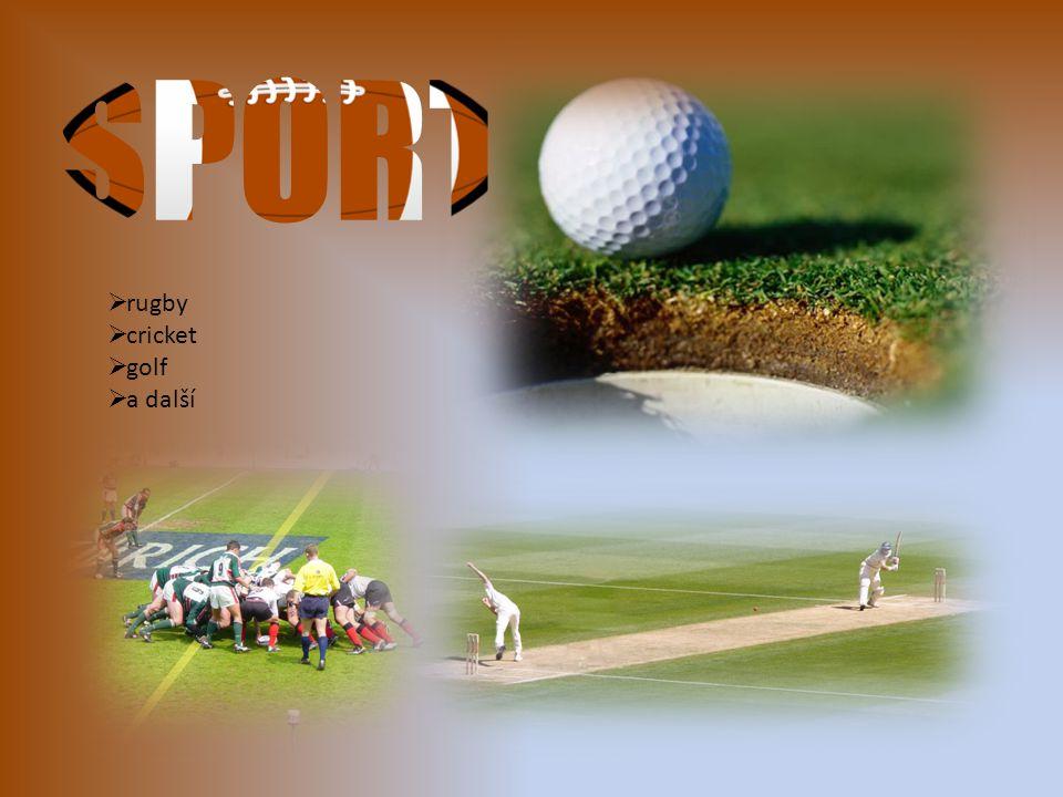 SPORT rugby cricket golf a další