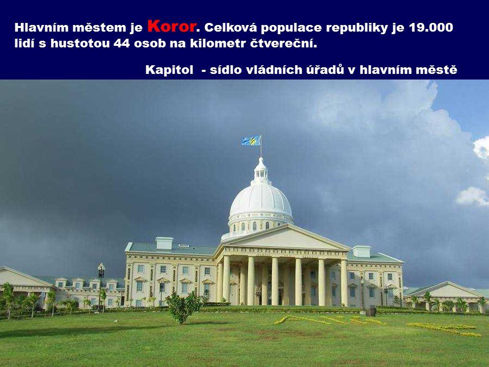 Hlavním městem je Koror. Celková populace republiky je 19