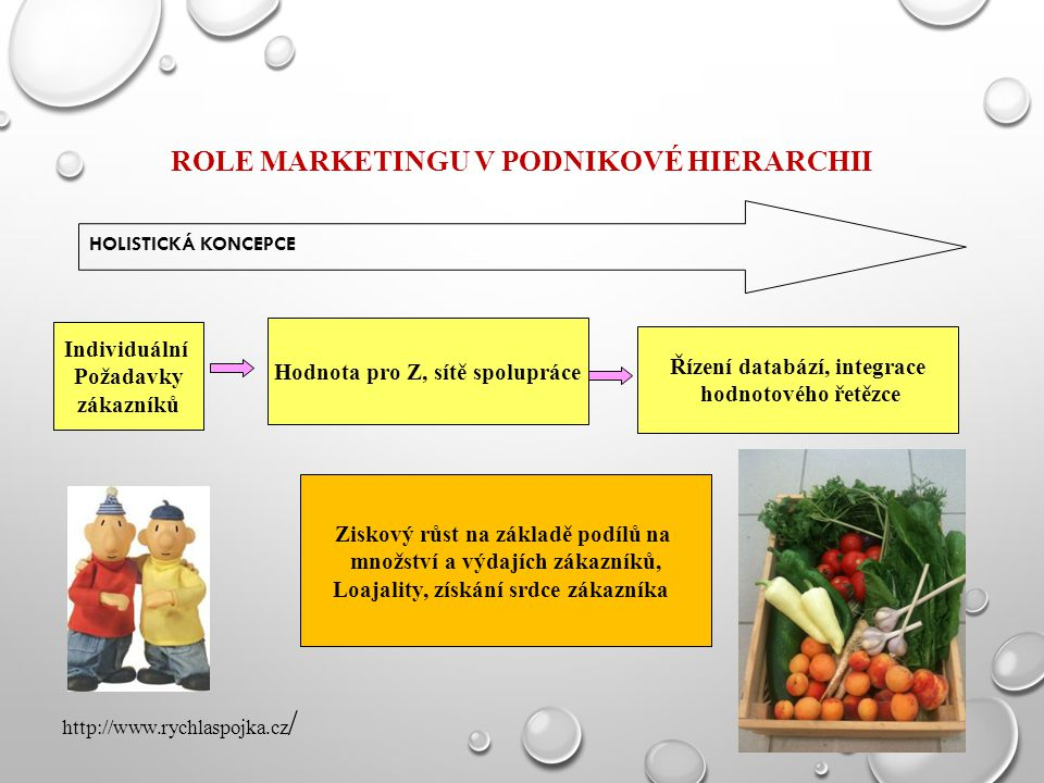 ROLE MARKETINGU v podnikové hierarchii