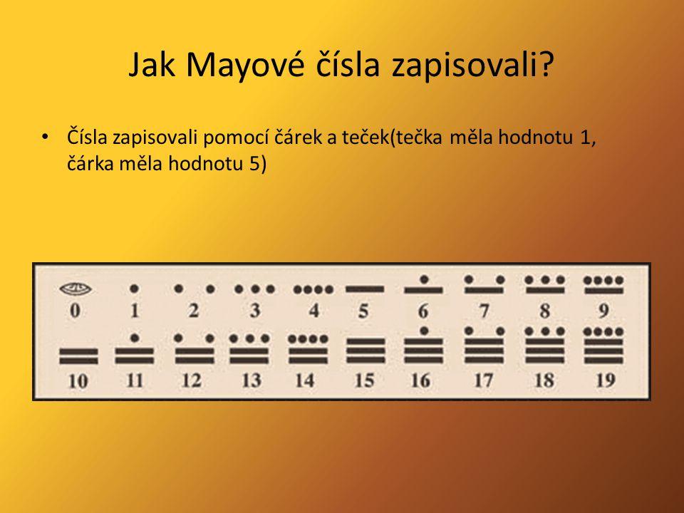 Jak Mayové čísla zapisovali