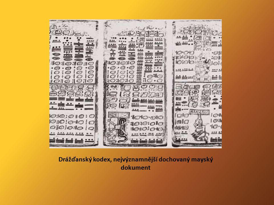 Drážďanský kodex, nejvýznamnější dochovaný mayský dokument
