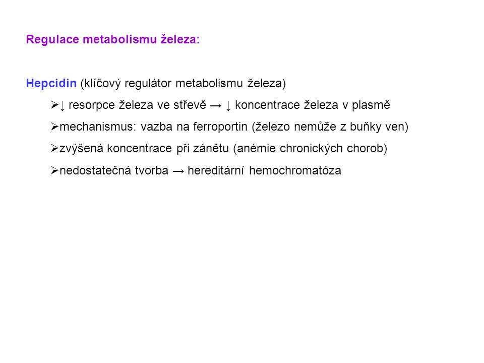 Regulace metabolismu železa: