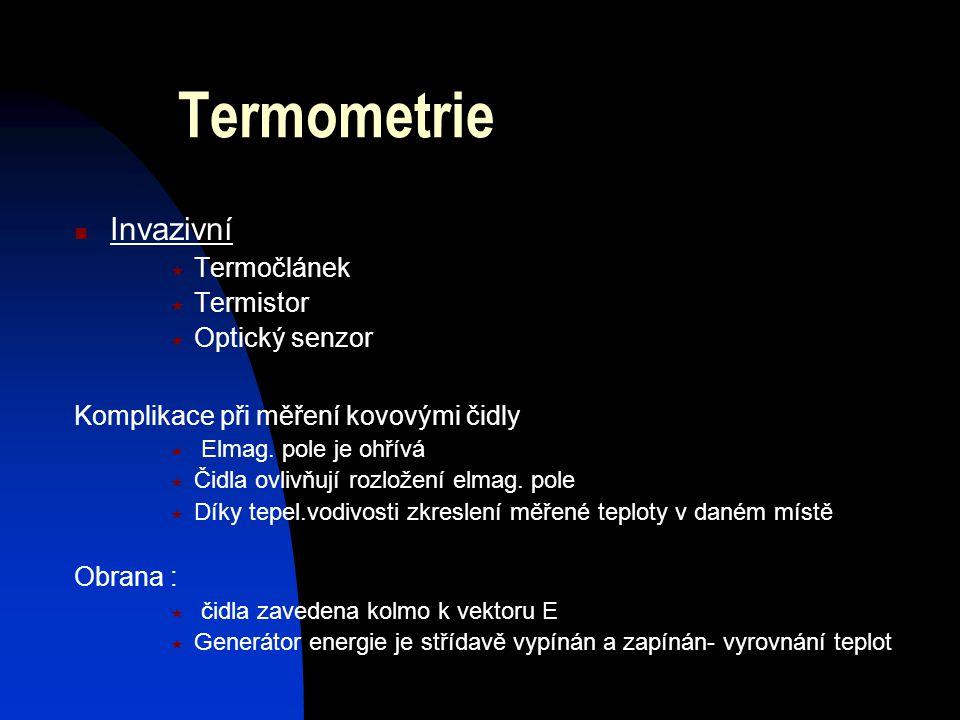 Termometrie Invazivní Termočlánek Termistor Optický senzor