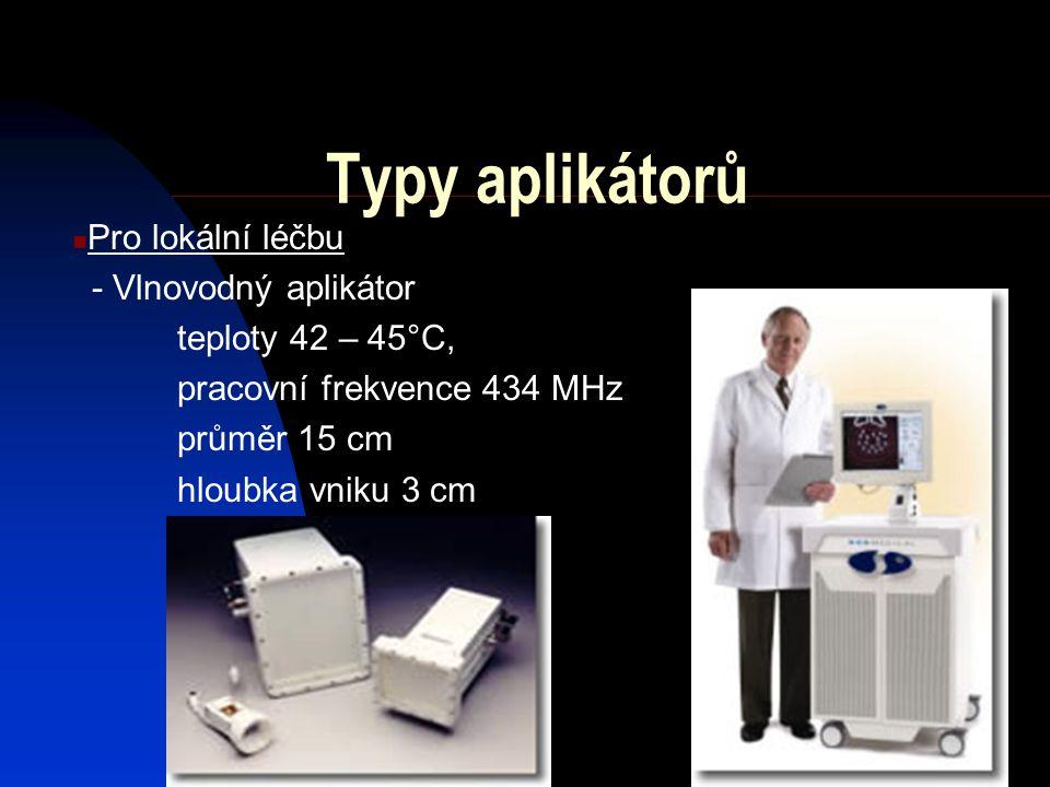 Typy aplikátorů Pro lokální léčbu - Vlnovodný aplikátor