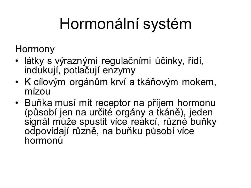 Hormonální systém Hormony