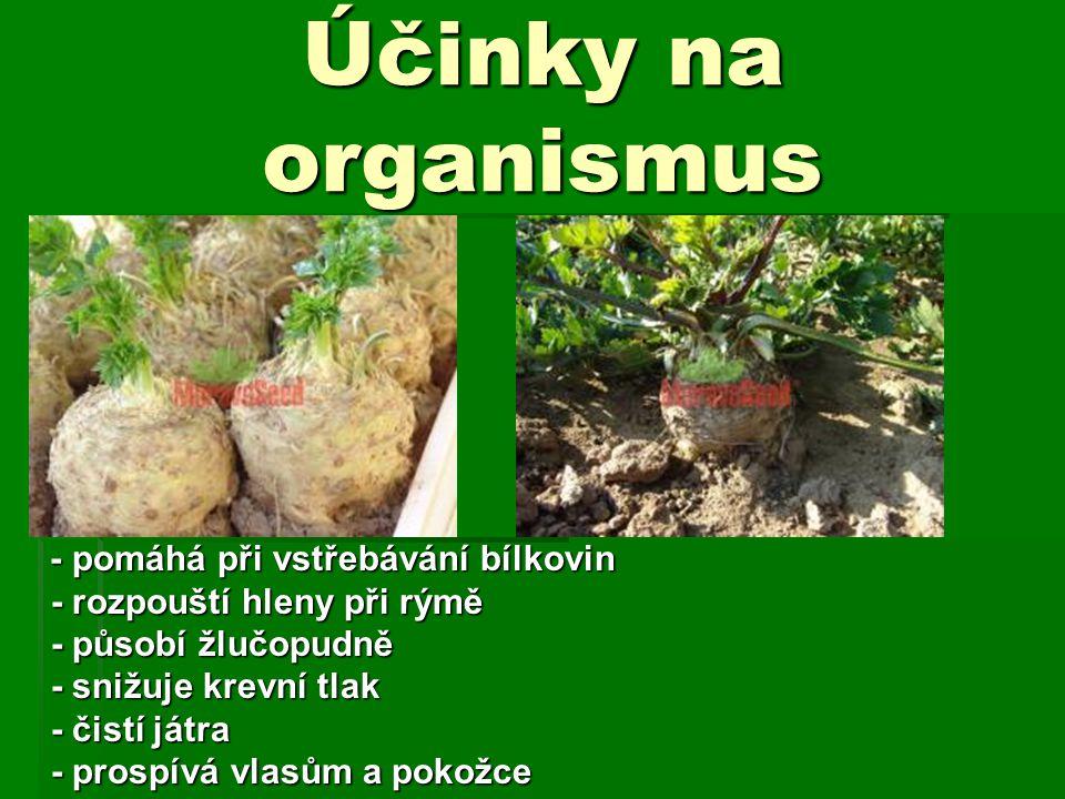 Účinky na organismus