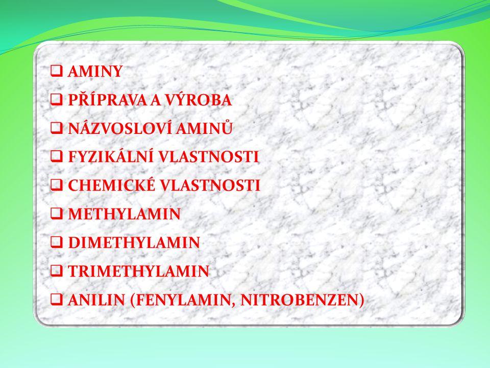 ANILIN (FENYLAMIN, NITROBENZEN)