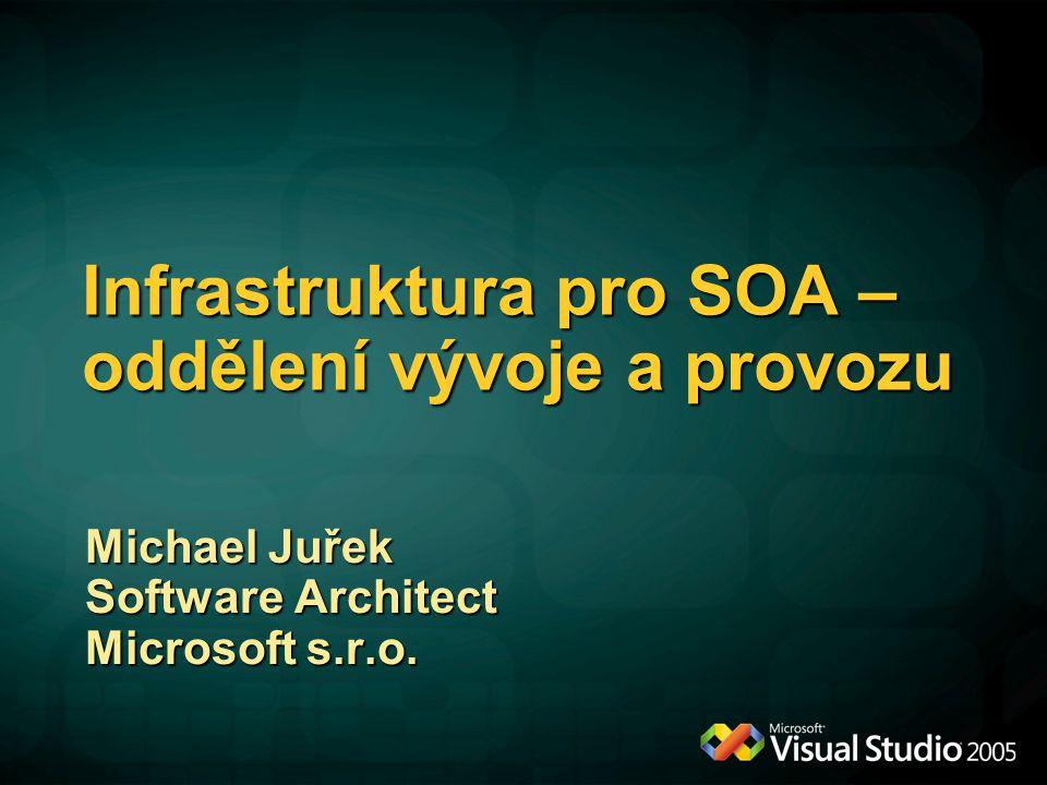 Infrastruktura pro SOA – oddělení vývoje a provozu