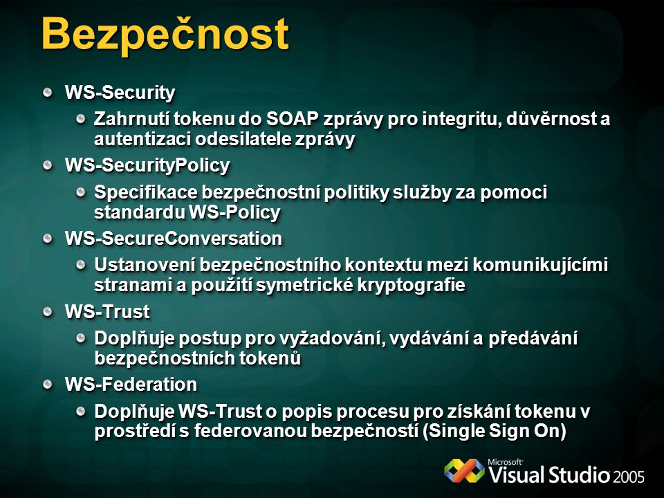 Bezpečnost WS-Security