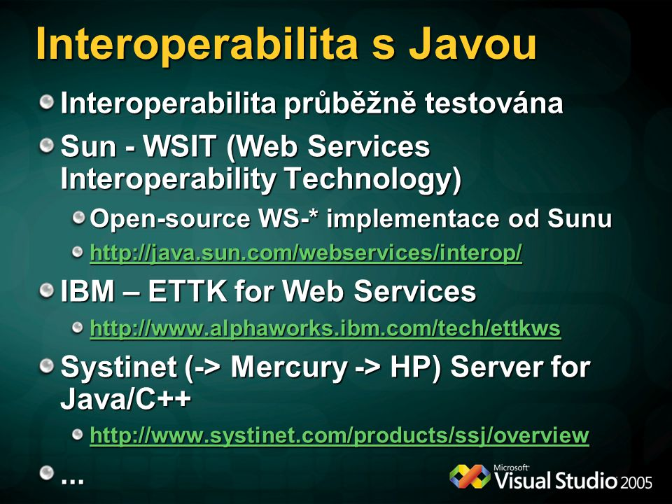 Interoperabilita s Javou