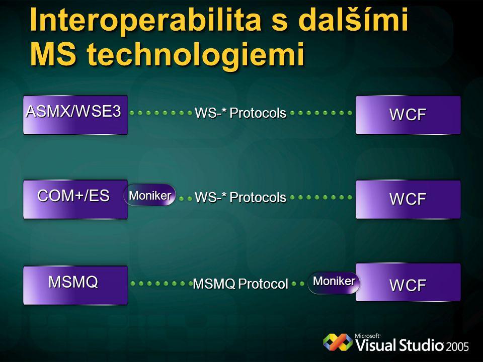 Interoperabilita s dalšími MS technologiemi