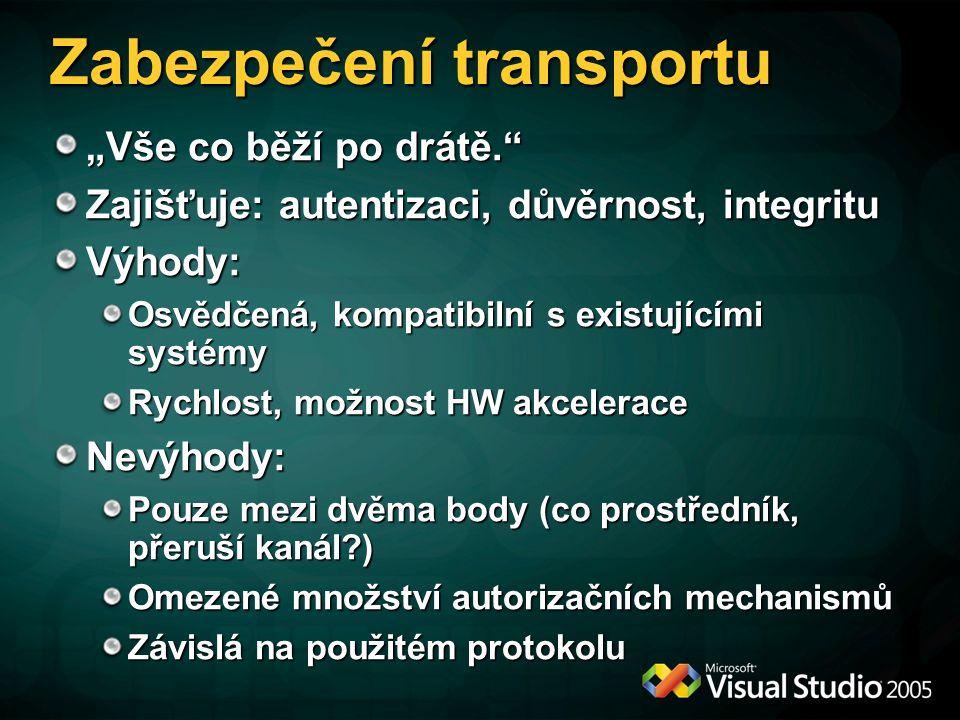Zabezpečení transportu