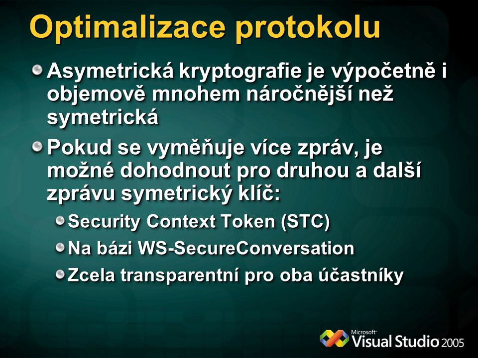 Optimalizace protokolu