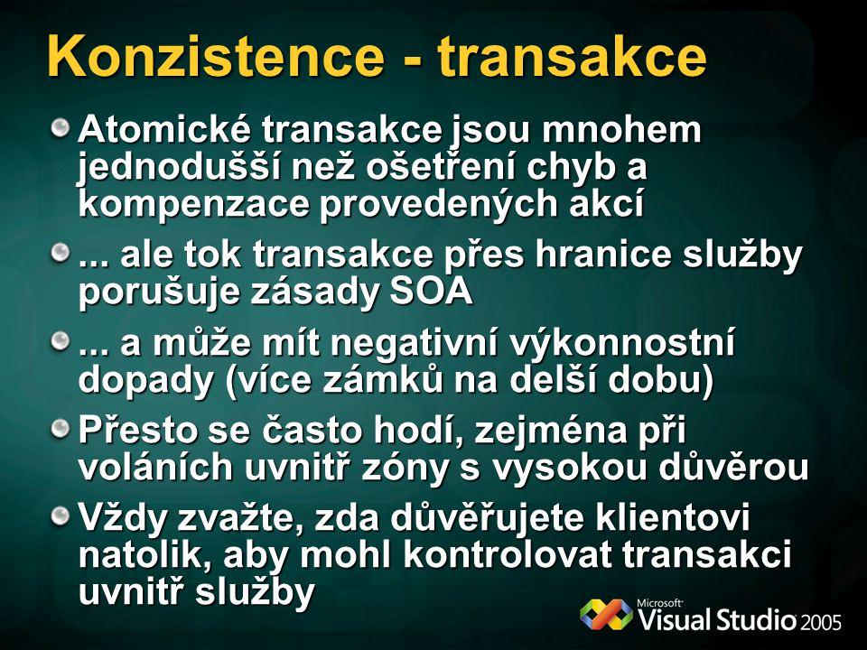 Konzistence - transakce