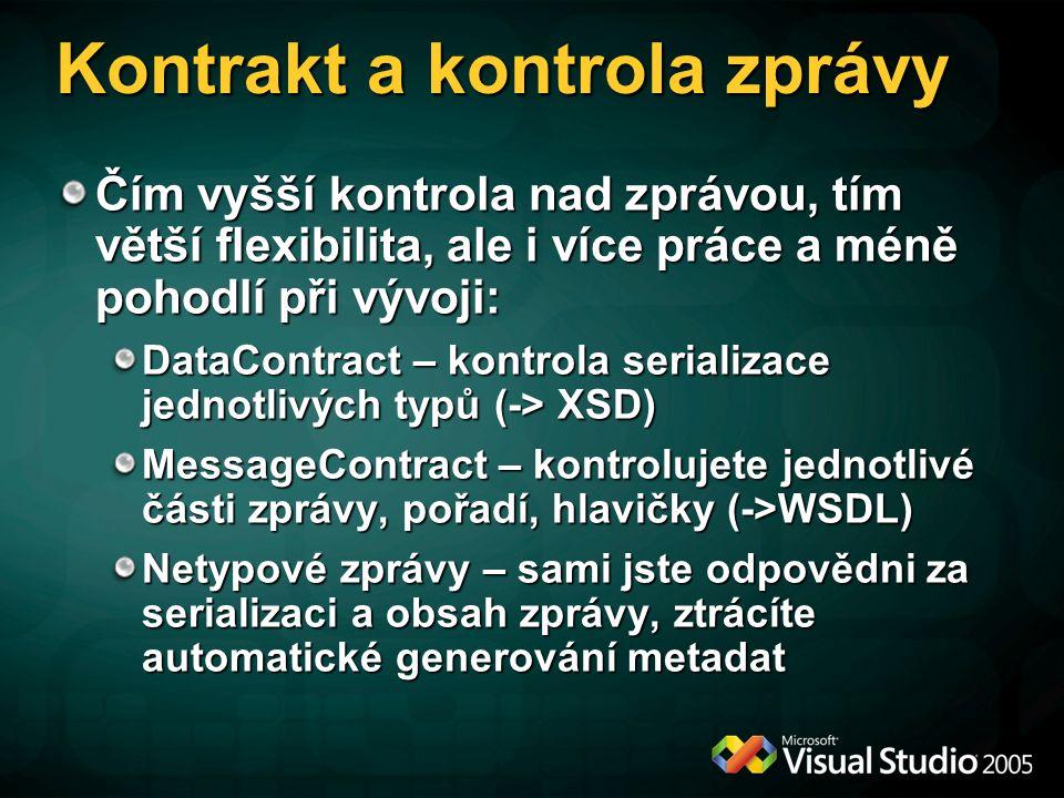 Kontrakt a kontrola zprávy