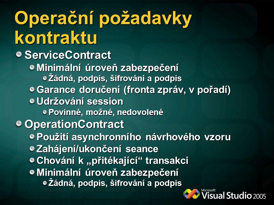 Operační požadavky kontraktu