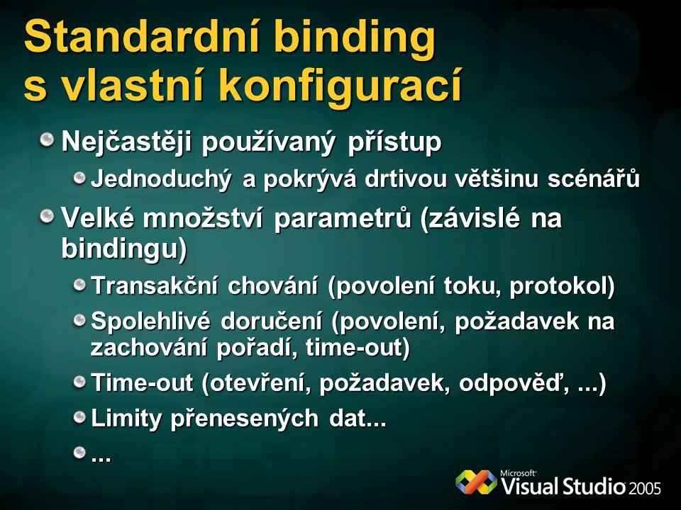 Standardní binding s vlastní konfigurací