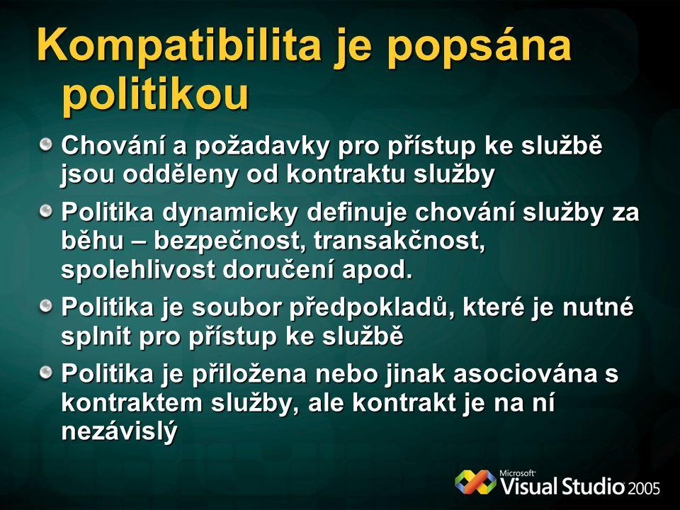 Kompatibilita je popsána politikou