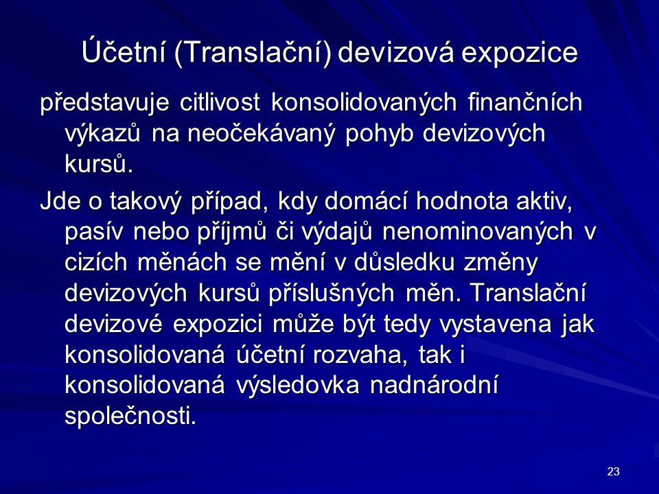 Účetní (Translační) devizová expozice