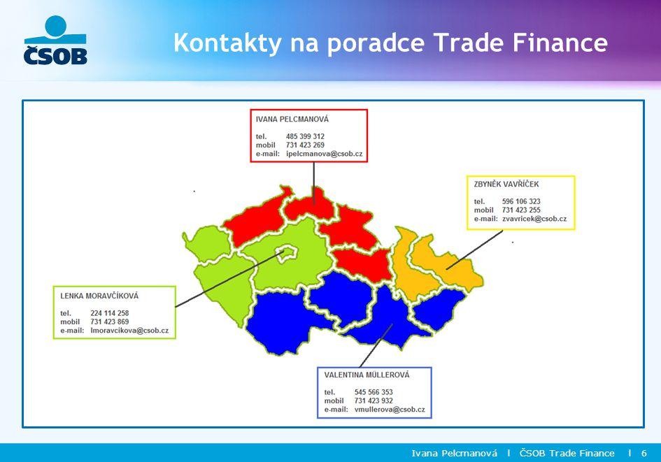 Kontakty na poradce Trade Finance