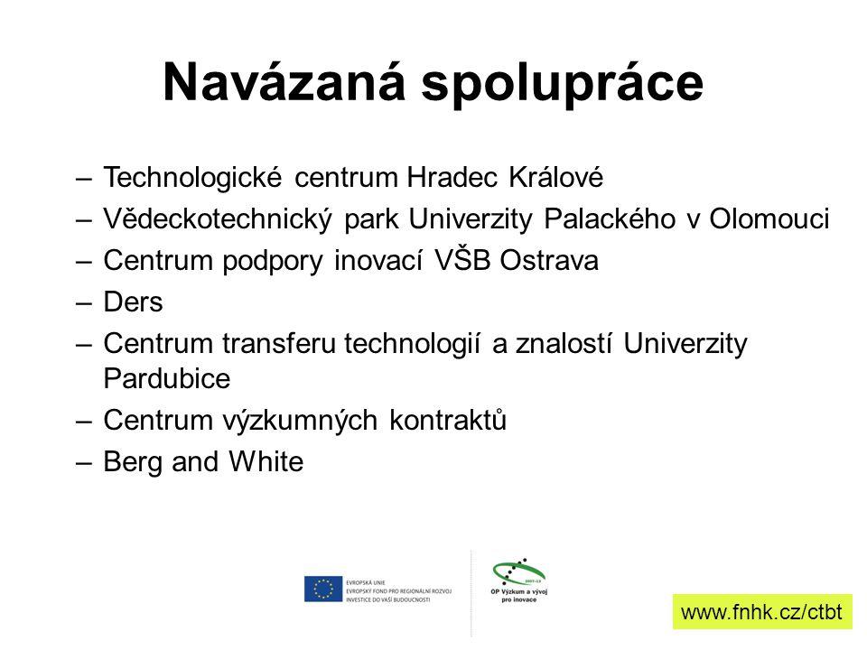 Navázaná spolupráce Technologické centrum Hradec Králové