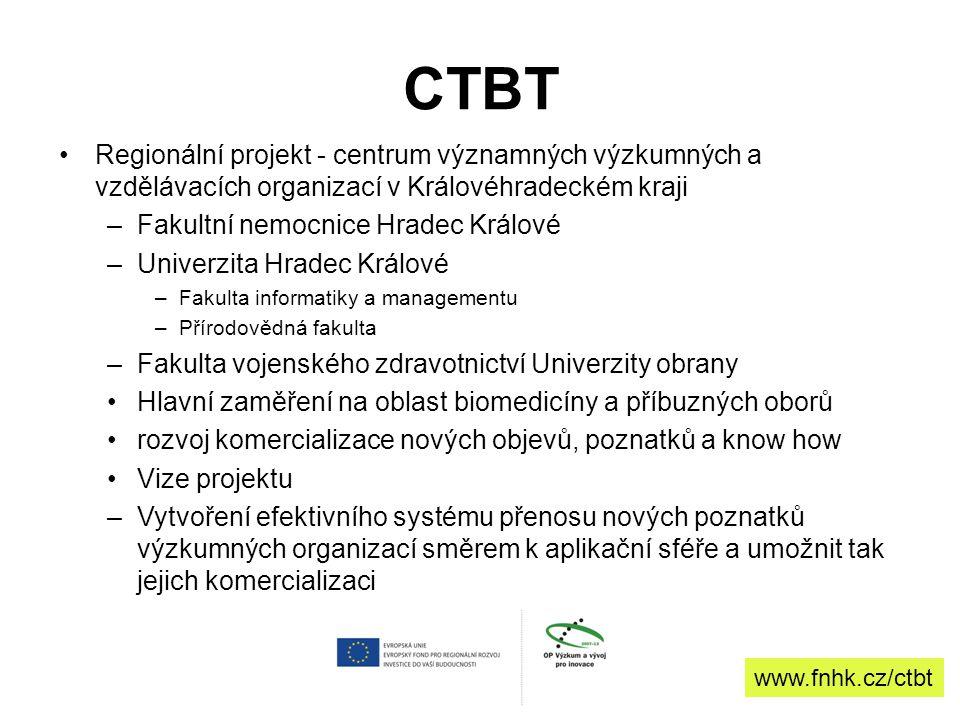 CTBT Regionální projekt - centrum významných výzkumných a vzdělávacích organizací v Královéhradeckém kraji.