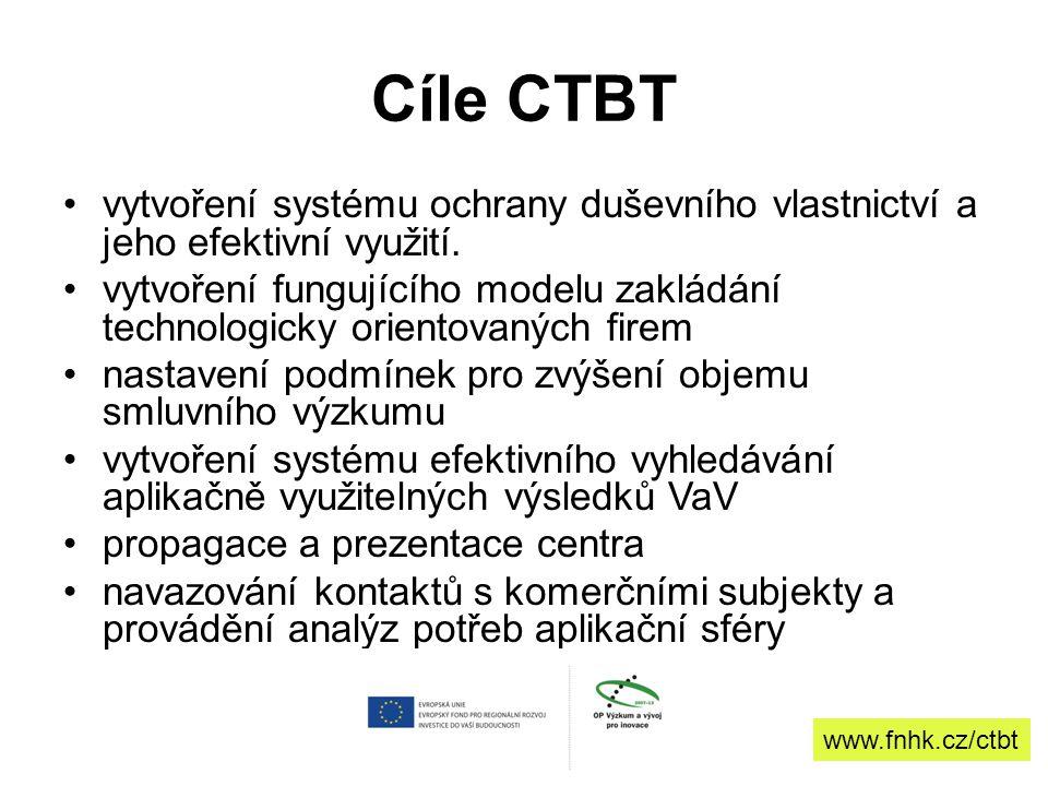 Cíle CTBT vytvoření systému ochrany duševního vlastnictví a jeho efektivní využití.