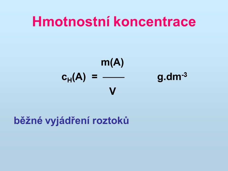 Hmotnostní koncentrace