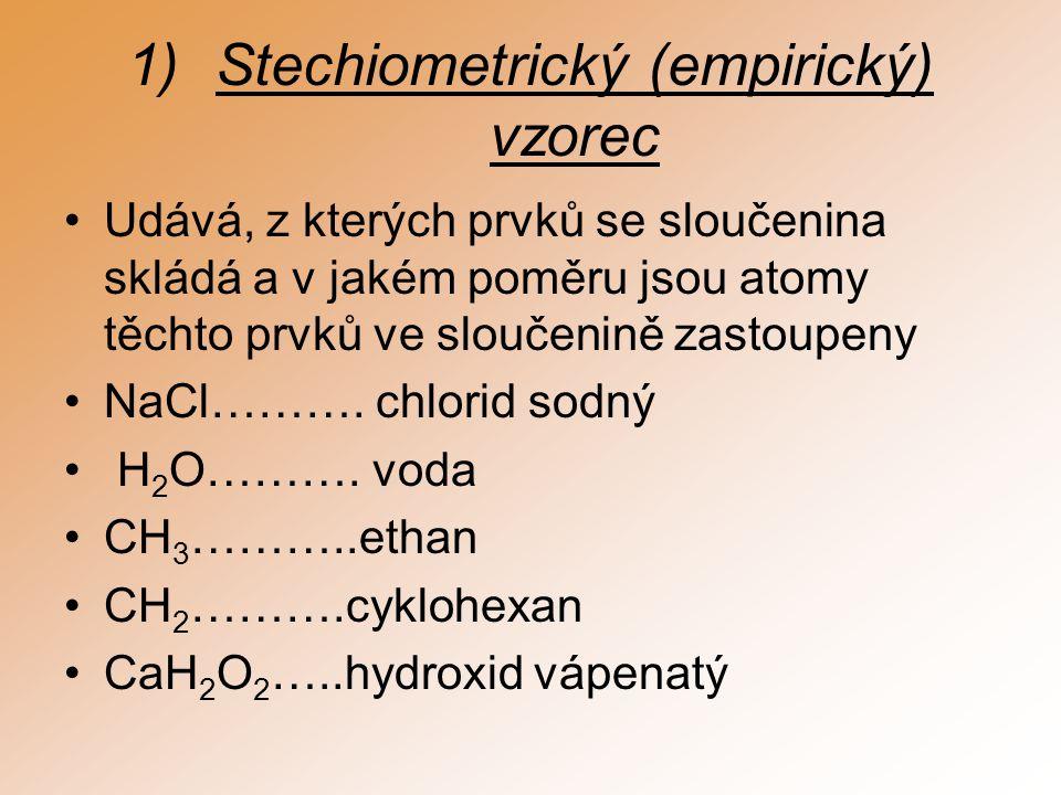 Stechiometrický (empirický) vzorec