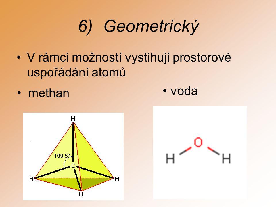 Geometrický V rámci možností vystihují prostorové uspořádání atomů