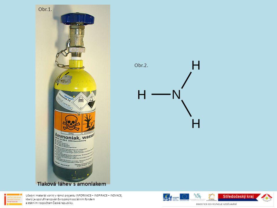 Tlaková láhev s amoniakem