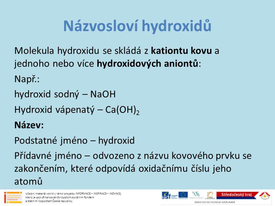 Názvosloví hydroxidů