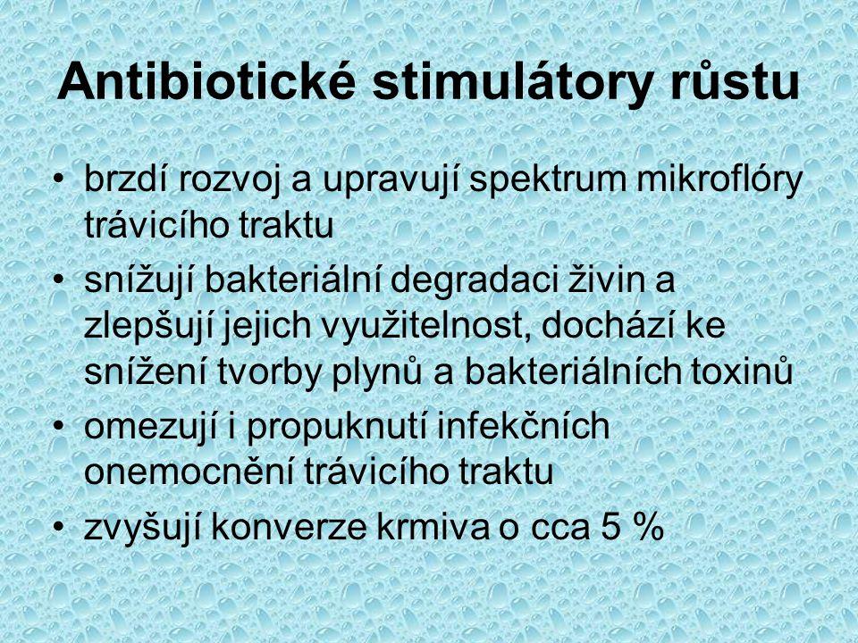 Antibiotické stimulátory růstu