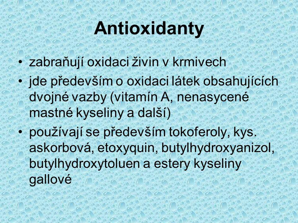 Antioxidanty zabraňují oxidaci živin v krmivech