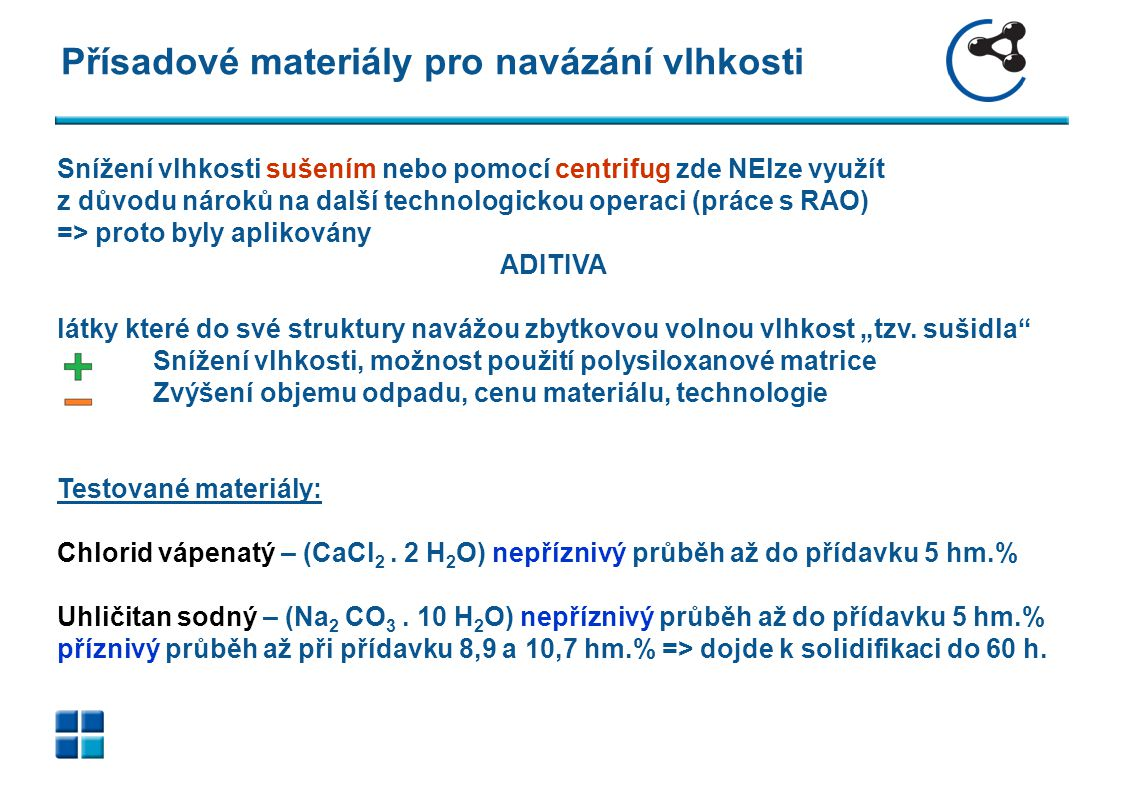 Obrazová příloha Aplikace přídavku Na2CO3 o 8,9 a 10,7 hm.% (vlevo a vpravo) při nejvyšší vlhkosti 62 hm.%, stav po 4 h, průměr vzorku 65 mm.
